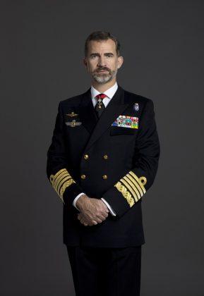 El rey, con el uniforme de la Armada. CASA REAL