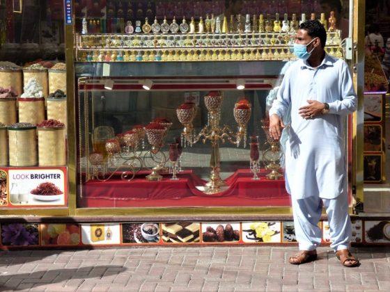 Zoco de las especias en Dubai, con el omnipresente miedo al coronavirus. J.M. PAGADOR