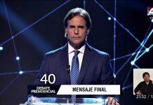 Luis Lacalle, presidente electo de Uruguay, en uno de los debates televisivos.