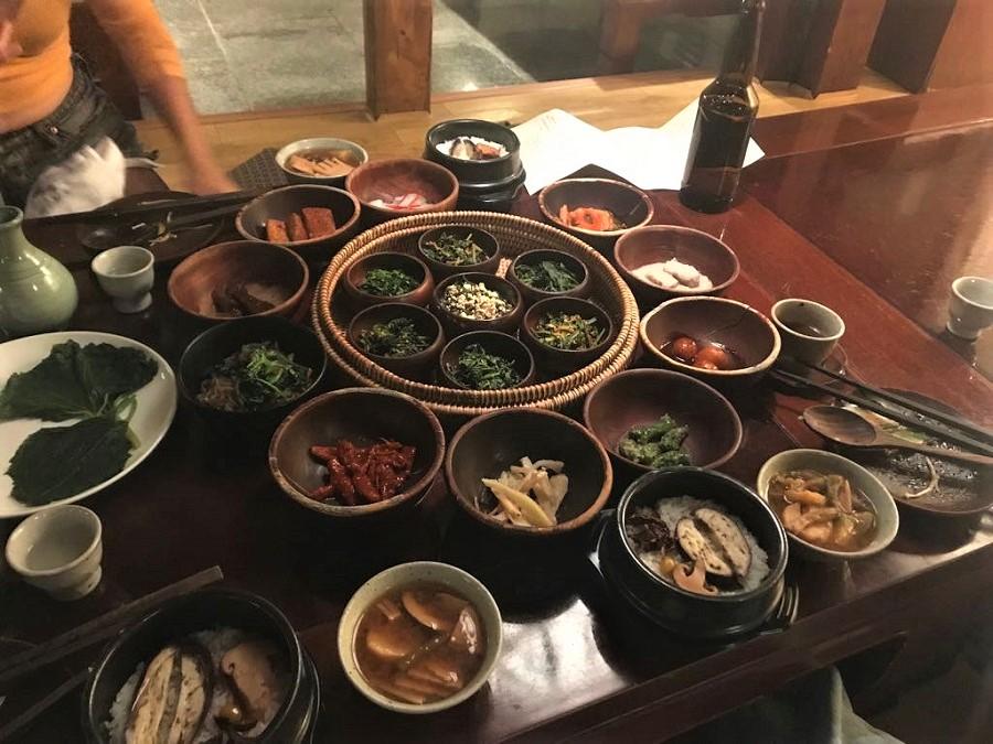 Una muestra de la variadísima y rica comida coreana.