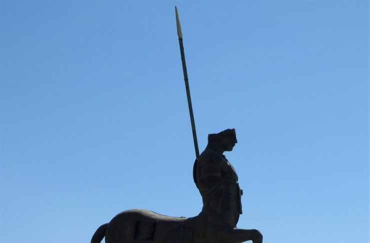 Centauro de Igor Mitoraj en el foro de Pompeya, un símbolo de cambio y avance. J.M. PAGADOR