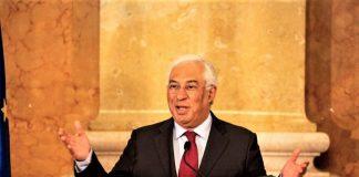 Antonio Costa, primer ministro de Portugal, anunciando ayer el final del estado de emergencia. GOBIERNO DE PORTUGAL