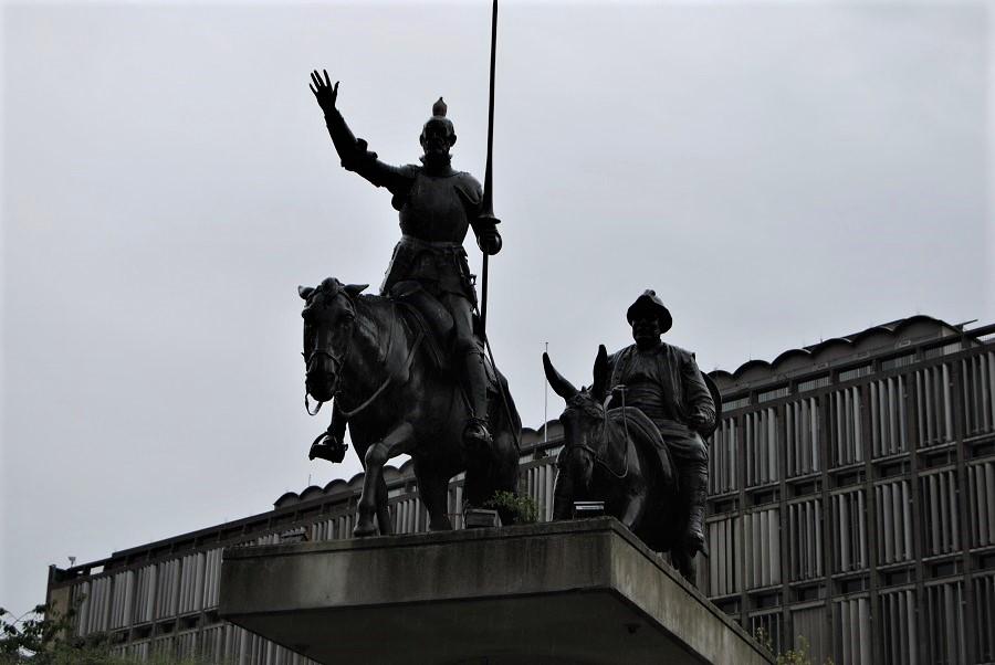 Don Quijote y Sancho en Bruselas. J.M. PAGADOR