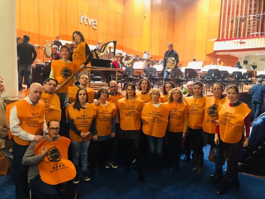 Protesta de la Orquesta de RTVE.