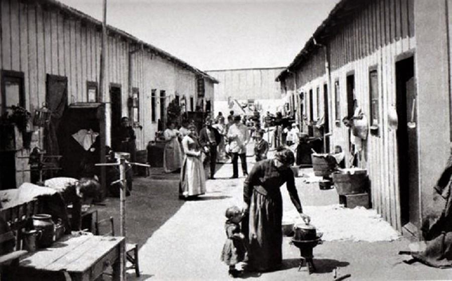 Un conventillo típico en torno a 1900.