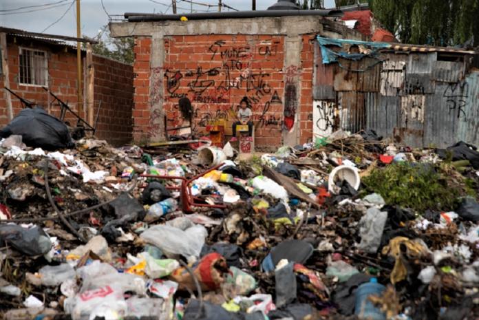 Una vista de Villa Itatí en plena pandemia. C.P.