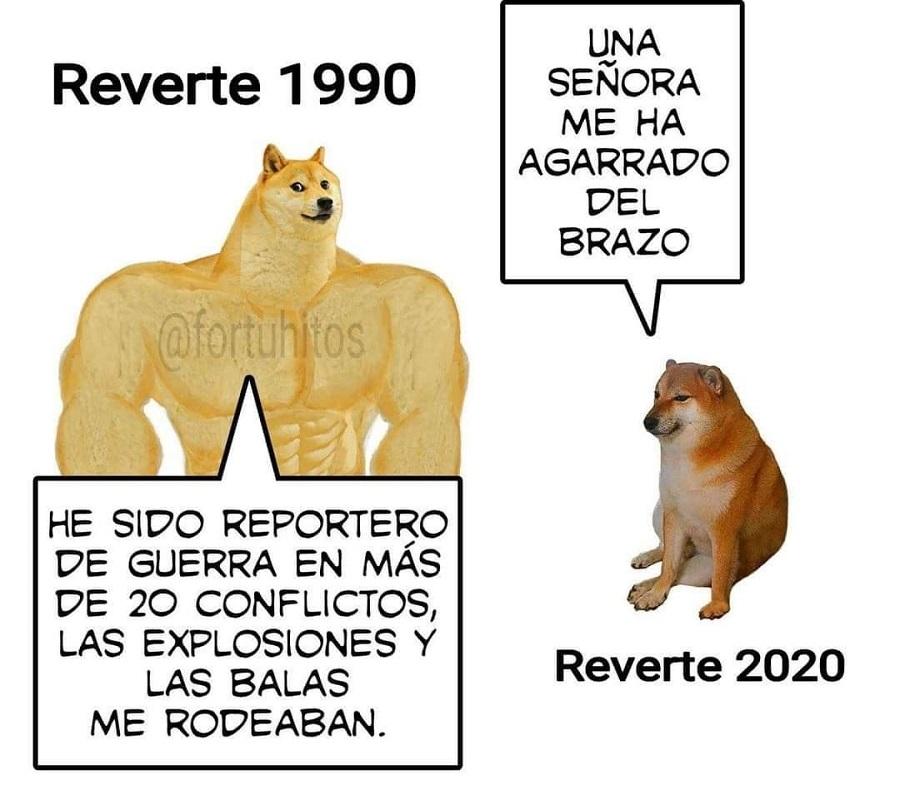 La evolución de Reverte a lo largo del tiempo.