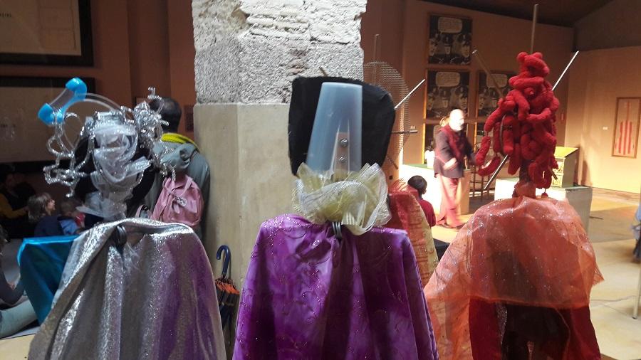 Actividad cultural para niños organizada por los Amigos del Museo Vostell. ALEJO HERNÁNDEZ LAVADO
