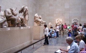 Esculturas del friso del Partenón, actualmente en el British Museum. J.M. PAGADOR