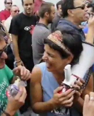 Kichi y Teresa Rodríguez, en el tiempo de la dinamita, antes de ser lo que son ahora.