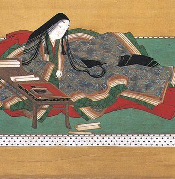 Murasaki Shikibu, seguramente la primera novelista de la historia.