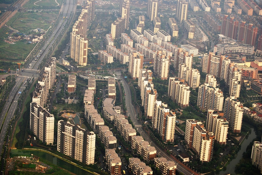Proceso de superurbanización en Shanghái, como en toda China. J.M. PAGADOR