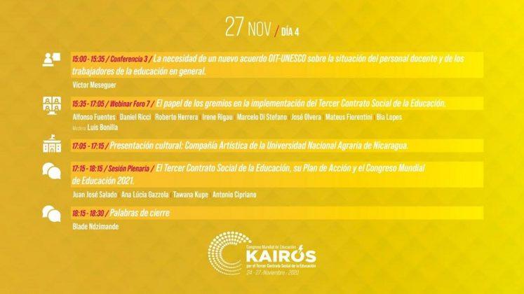 Congreso Mundial de Educación. KAIRÓS