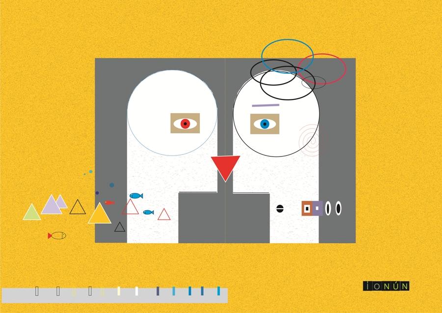 El bes, ilustración que forma parte de uno de los desplegables.
