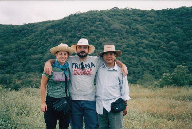 Con la Dra. Lorena M. Zavala (Universidad de Sevilla) durante una excursión a la zona del Puente del Diablo (Michoacán, México).