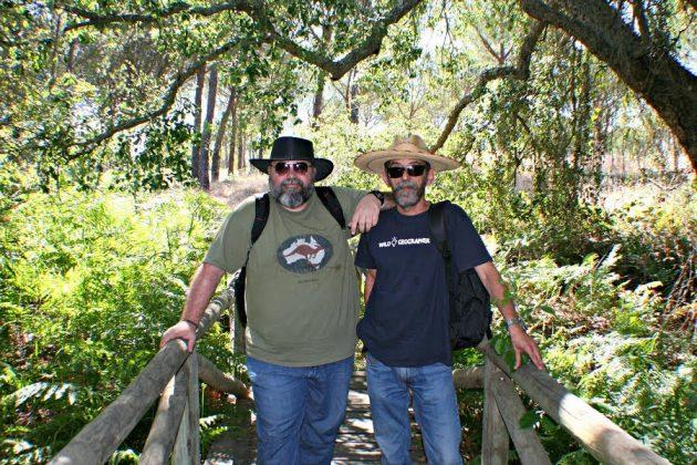 Con el Dr. Arturo J.P. Granged (U. de Sevilla) durante una jornada de trabajo en el área de La Rocina (Huelva, Parque Natural de Doñana).