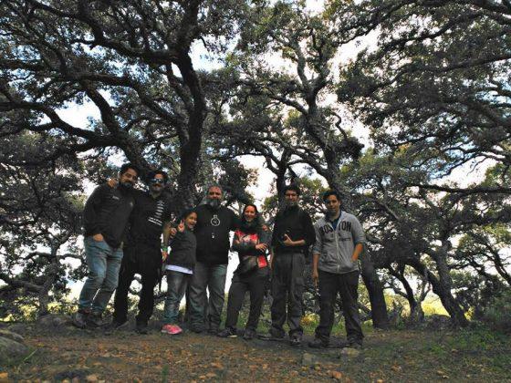 Con miembros del grupo de investigación MED_Soil durante un muestreo de suelos en el Parque Natural Los Alcornocales (Cádiz) en 2016.