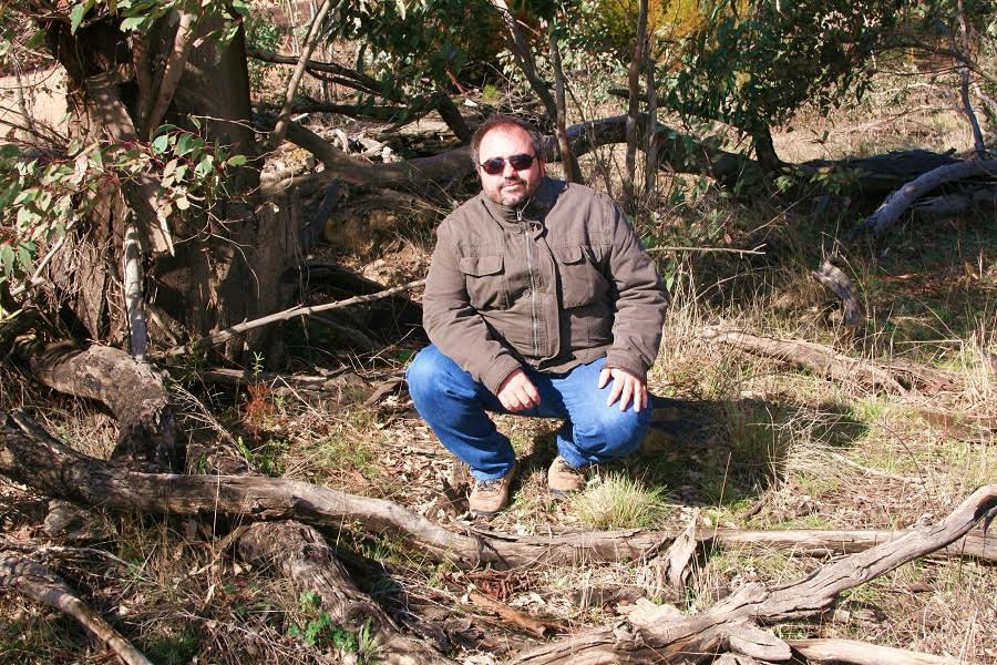 Durante una excursión de trabajo en un área forestal cerca de Camberra (Australia).