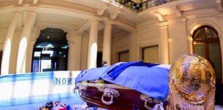 El féretro de Maradona en la Casa Rosada. PRESIDENCIA REPÚBLICA ARGENTINA