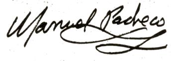 Firma de Manuel Pacheco, 1979