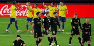 Ni Messi pudo con el Cádiz. Captura de AsTV