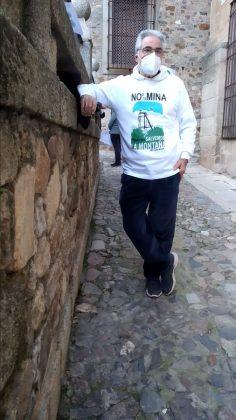 Nuestro colaborador Alejo Hernández, uno de los mentores del movimiento contra la mina.