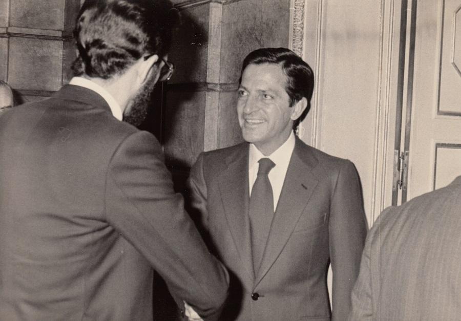 Con Adolfo Suárez en La Moncloa. ARCHIVO J.M. PAGADOR