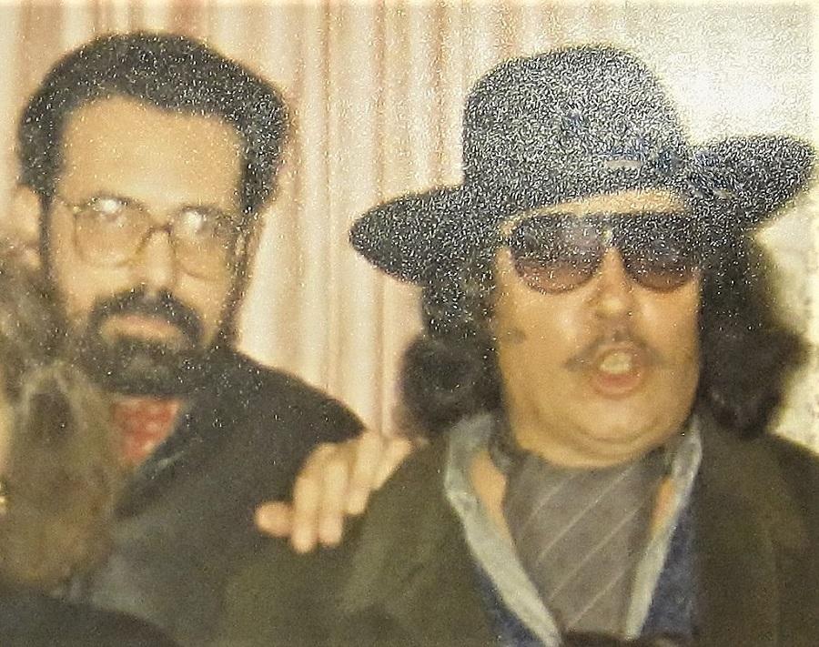 El Jerezano y yo en una fiesta en su casa. ARCHIVO J.M. PAGADOR