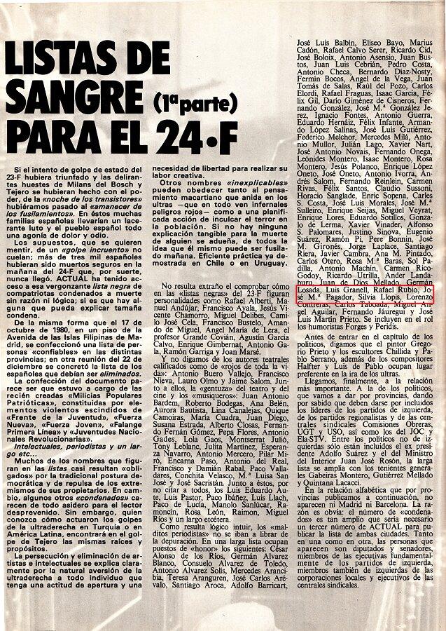 Mi nombre figura entre los 100 primeros periodistas a fusilar. ARCHIVO J.M. PAGADOR