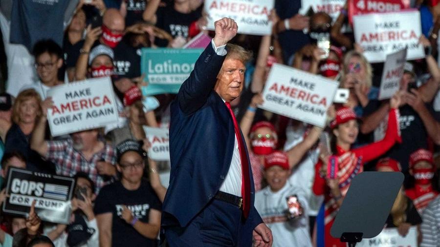 Trump, un ejemplo de libro de manipulación de masas aunque se sepa que miente. RTVE