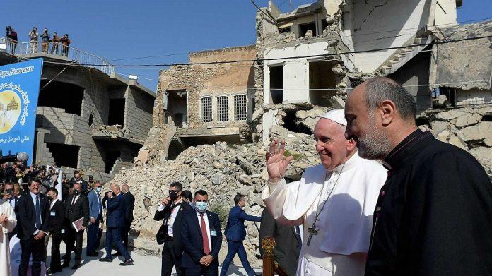 El Papa en Mosul, en su reciente viaje a Irak. RTVE