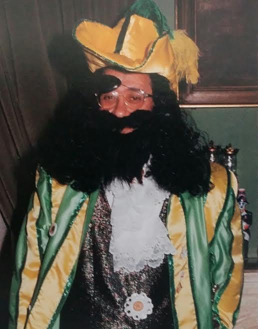 El recordado alcalde Manuel Rojas, disfrazado en el Carnaval de Badajoz.