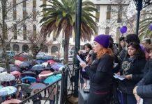 Elisa, interviniendo en un acto en Cáceres.