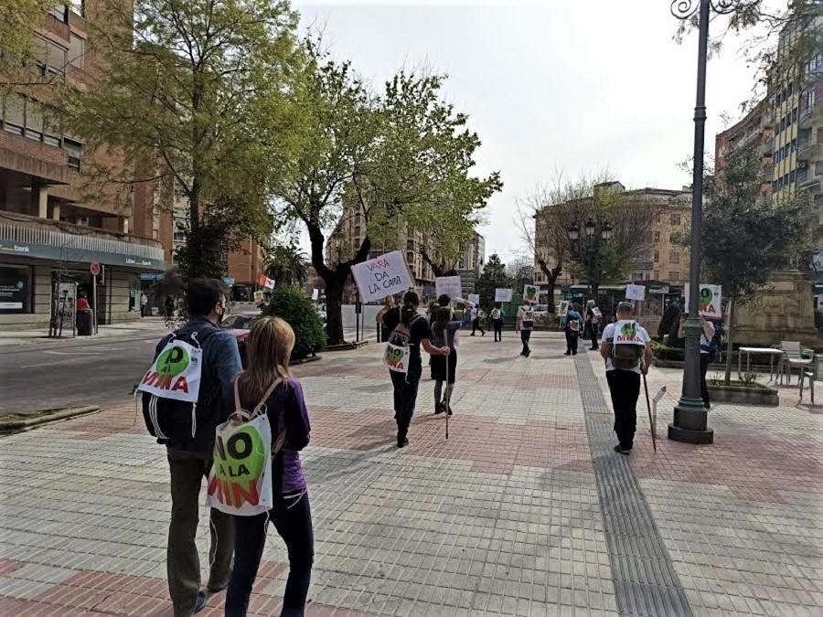 La marcha partió el viernes del centro de la ciudad. ALEJO HERNÁNDEZ