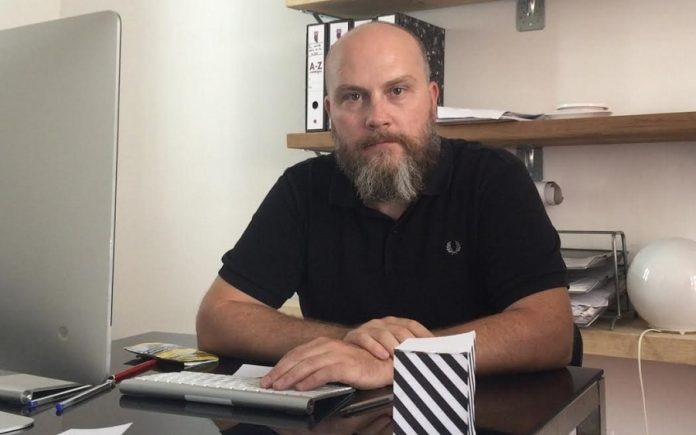 Lope García Tamarit, en su oficina de Madrid. CEDIDA