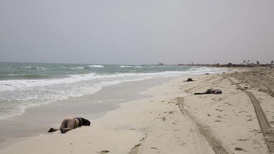 Migrantes muertos en una playa del Mediterráneo. RTVE