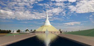 Recreación del futuro complejo budista cacereño. FUNDACIÓN LUMBINI GARDEN