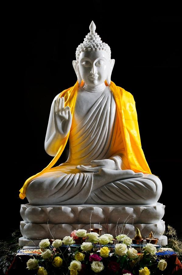 Una estatua de Buda como esta, de 40 metros de altura, coronará el complejo. FUNDACIÒN LUMBINI GARDEN