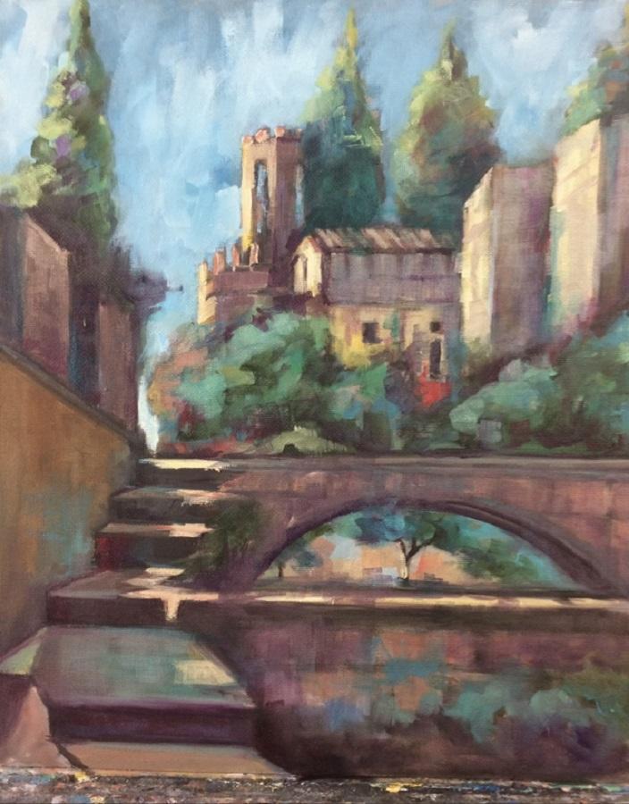 La artista domina el paisaje, como las demás temáticas.