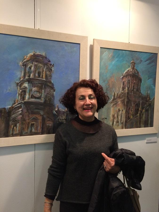 La artista, en una de sus numerosas y exitosas exposiciones.
