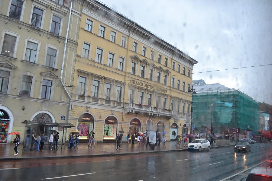 Un día cualquiera en una calle de San Petersburgo, Rusia. J.M. PAGADOR