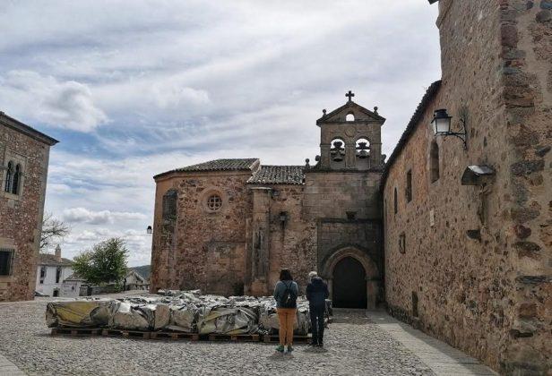 Lo que queda del Azor, en Cáceres. ELISA BLÁZQUEZ