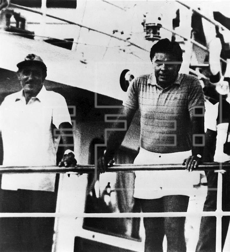 Felipe, a bordo del Azor.