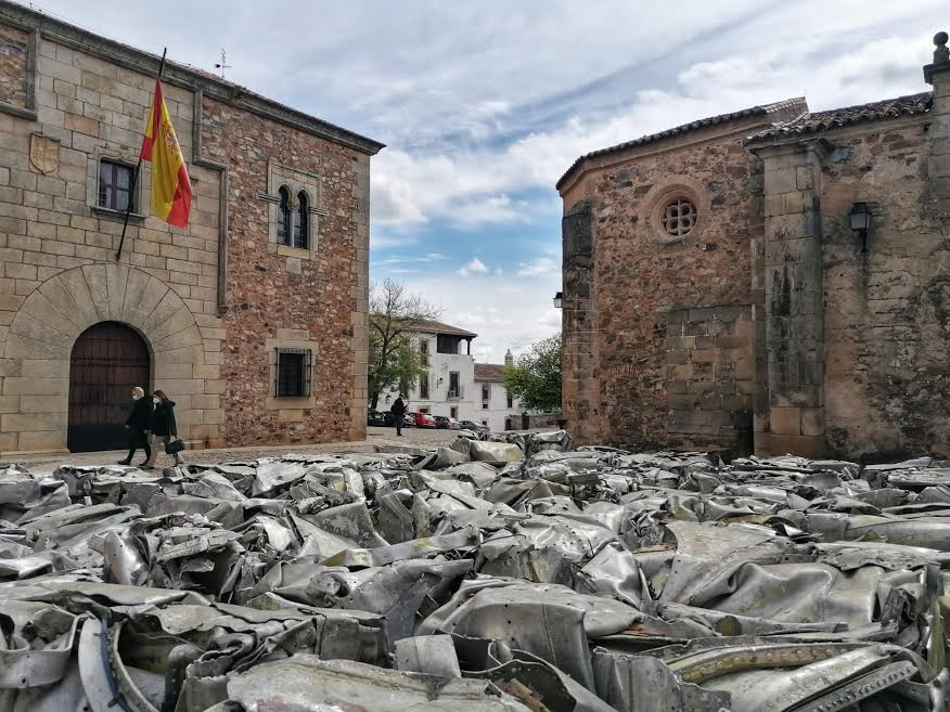 Restos del Azor, expuestos en Cáceres. ELISA BLÁZQUEZ