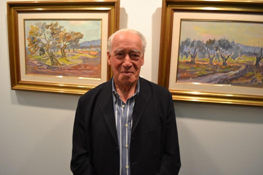 El artista, en una de sus múltiples exposiciones. ARCHIVO J.M. PAGADOR