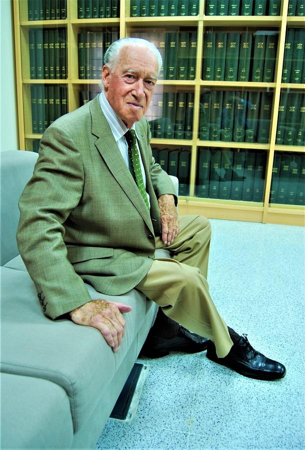 Francisco Pedraja en la Sociedad de Amigos del País, donde desarrolló una fecunda labor. J.M. PAGADOR