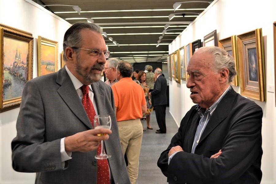 Francisco Pedraja y José Mª Pagador, en una exposición. ARCHIVO PROPRONews