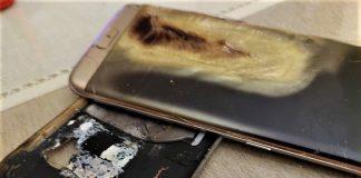 La explosión hizo saltar la carcasa y quemó el celular. CEDIDA