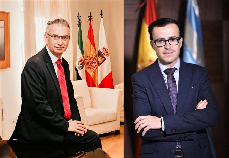 Los alcaldes de Don Benito y Villanueva, artífices de la posible unión.