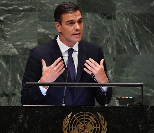 Pedro Sánchez, hoy, dirigiéndose a la Asamblea General de la ONU. RTVE